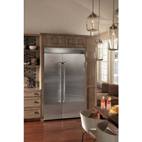 Model: JPK48SNXEPS | 48-inch Stainless Steel Panel Kit for Fully Integrated Built-In Side-by-Side Refrigerator