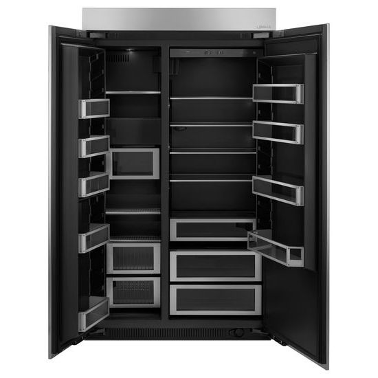 Model: JPK48SNXESS | 48-inch Stainless Steel Panel Kit for Fully Integrated Built-In Side-by-Side Refrigerator