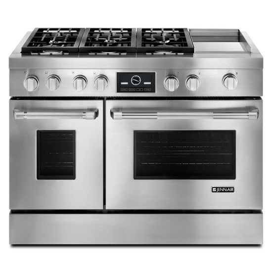 Pro-Style® Dual-Fuel Range with Griddle and MultiMode® Convection, 48
