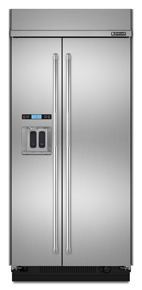 Built-In Side-By-Side Refrigerator with Water Dispenser, 42