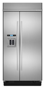 Built-In Side-By-Side Refrigerator with Water Dispenser, 48
