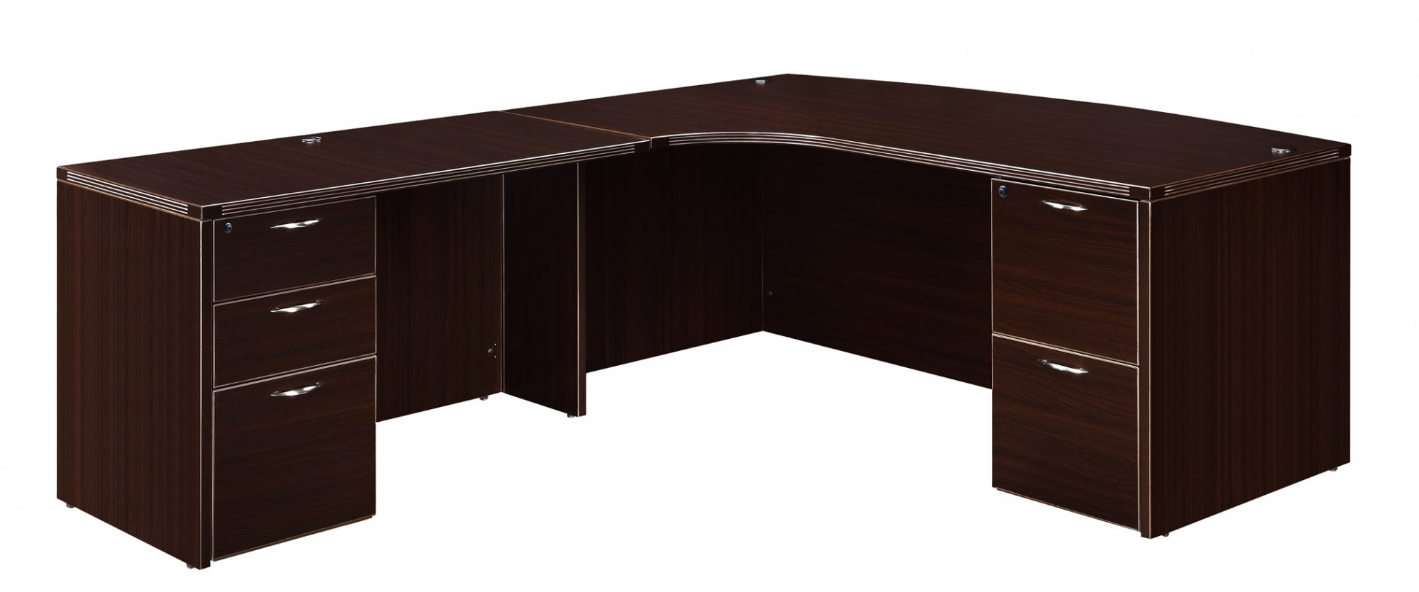 Flexsteel Fairplex  Left Executive Corner Bow-Front L Desk