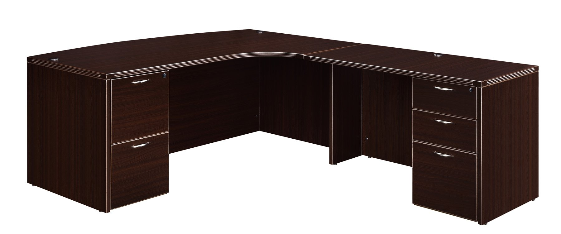Flexsteel Fairplex  Right Executive Corner Bow-Front L Desk