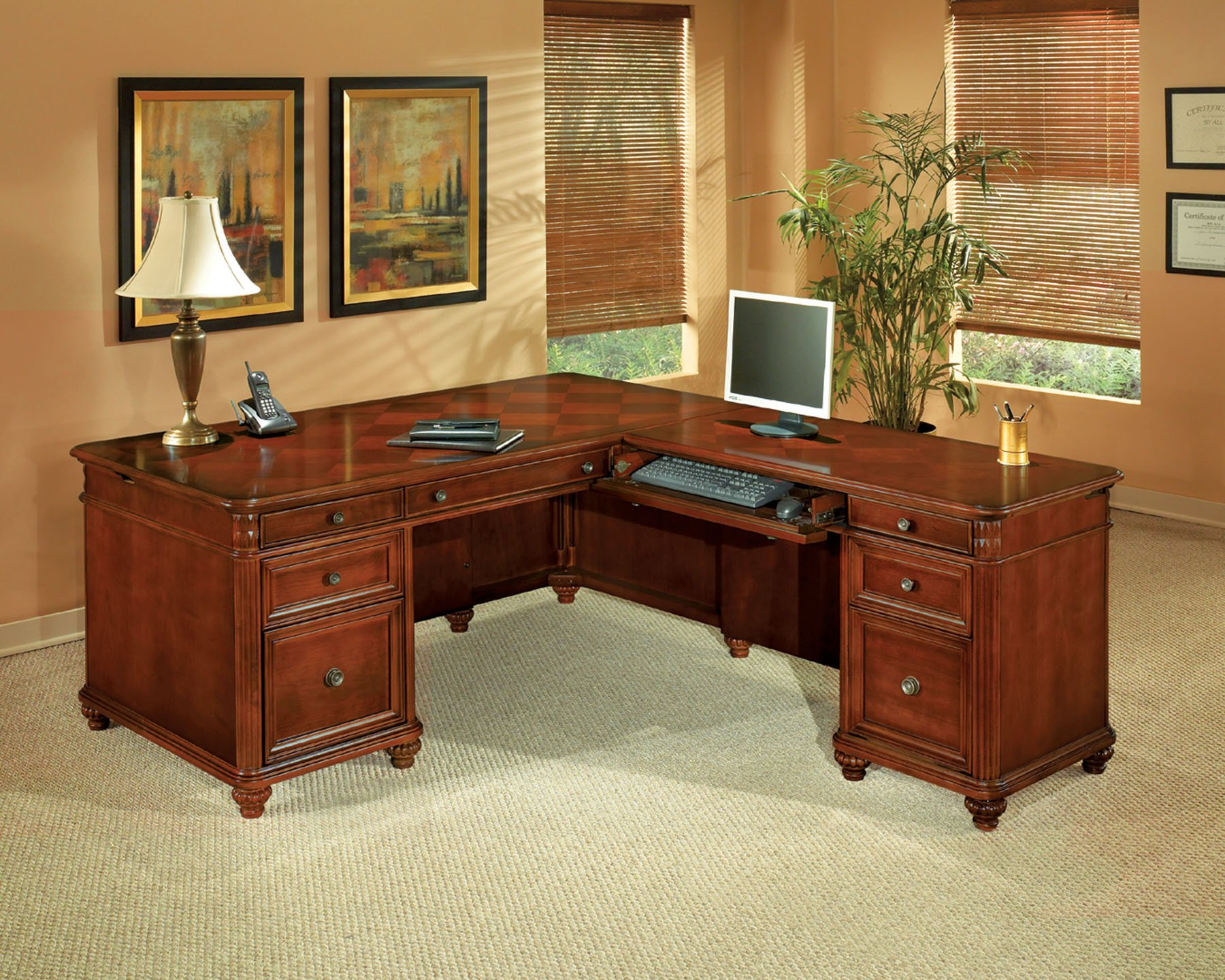 Antigua  Right Executive L Desk