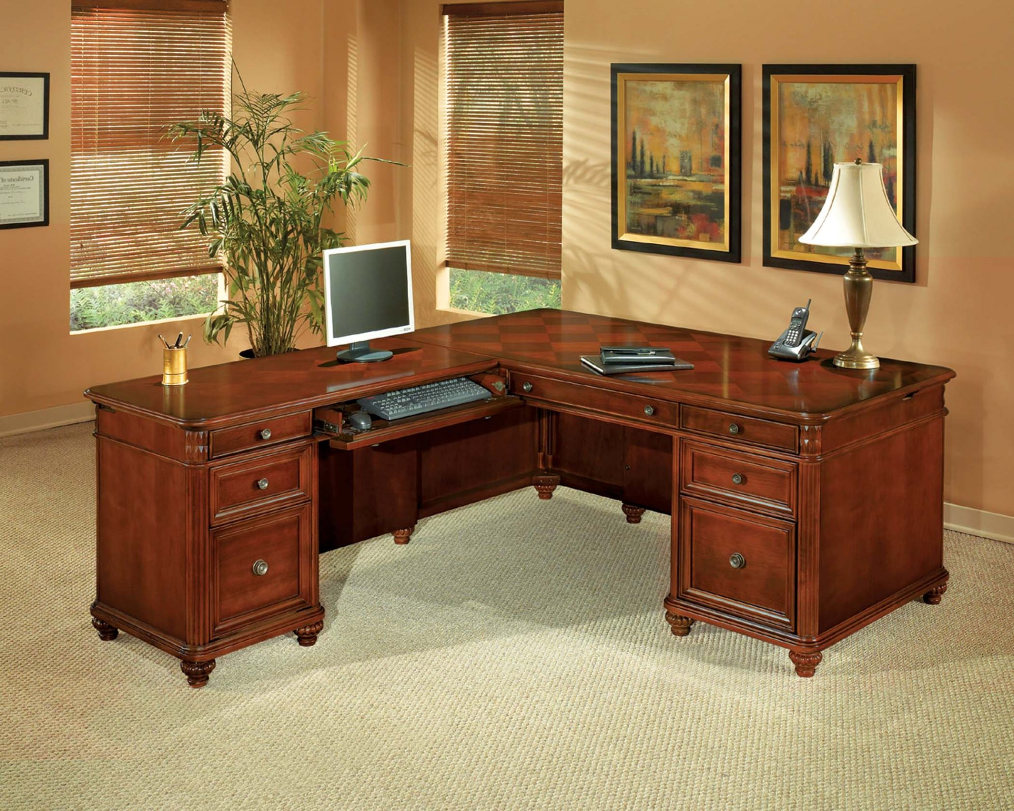 Antigua  Left Executive L Desk