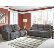 Triple Power Rocker Recliner w/Wand/Lighted Cupholders/Dual Arm Storage/Slotted Q1 Charging