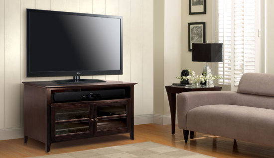 Dark Espresso Finish Wood A/V Cabinet