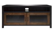 Cocoa/Matte Black Finish Wood A/V Cabinet