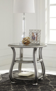 Round End Table/Coralayne