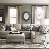 Model: 4000-SECTT2 | Custom Upholstery Medium L-Shaped Sectional