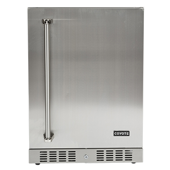 "Model: C1BIR24-L | Coyote 24"" Outdoor Refrigerator- Left Hinge (picture shown is right hinge)"