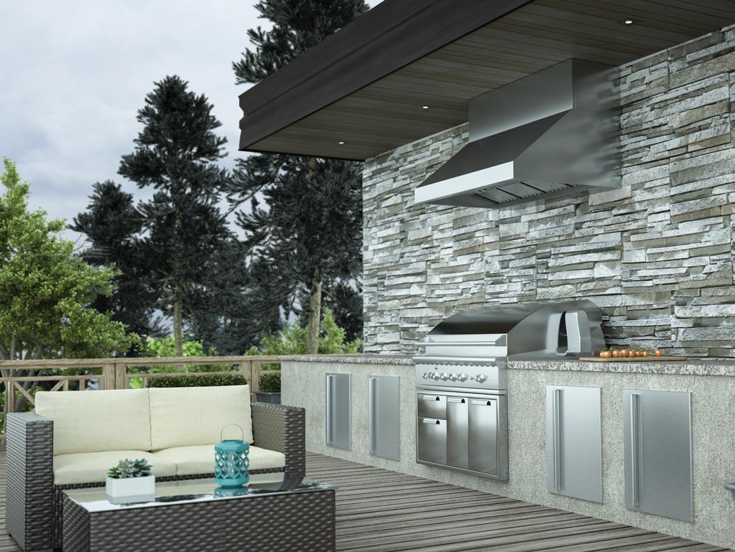 "Model: AK7836BS | Zephyr 36"" Cypress Wall Outdoor"