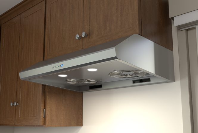 Essentials Power Hurricane Under-Cabinet Range Hoods