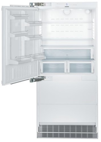 The fully integrated 36 wide refrigerator-freezer combination