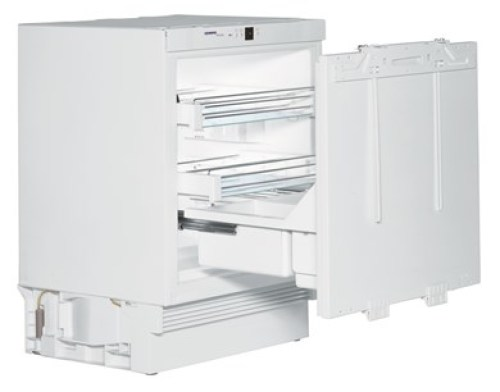 Under-worktop refrigerator for integrated use