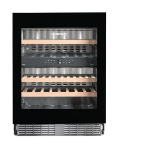 Under-worktop wine storage cabinet