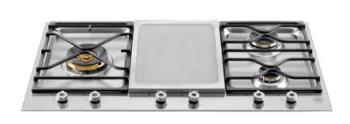 BERTAZZONI PROFESSIONAL SERIES 36 3-Burner Segmented Cooktop, Griddle