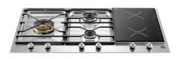 BERTAZZONI PROFESSIONAL SERIES 36 3-Burner Segmented Cooktop, 2 Induction
