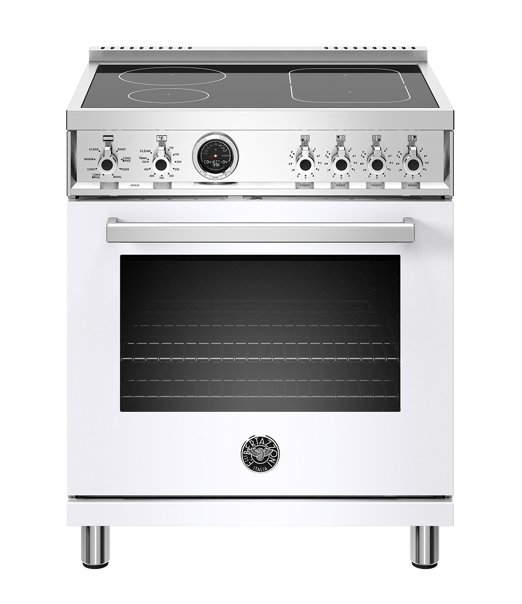 "Bertazzoni 30"" Professional Series range - Electric self clean oven - 4 induction zones"