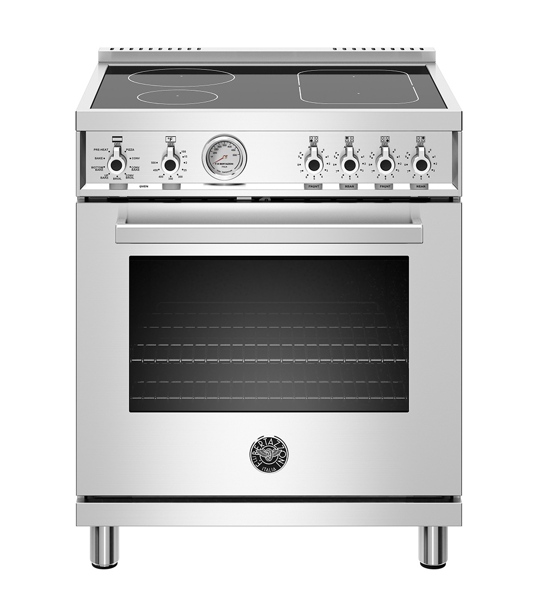 "Bertazzoni 30"" Professional Series range - Electric oven - 4 induction zones"