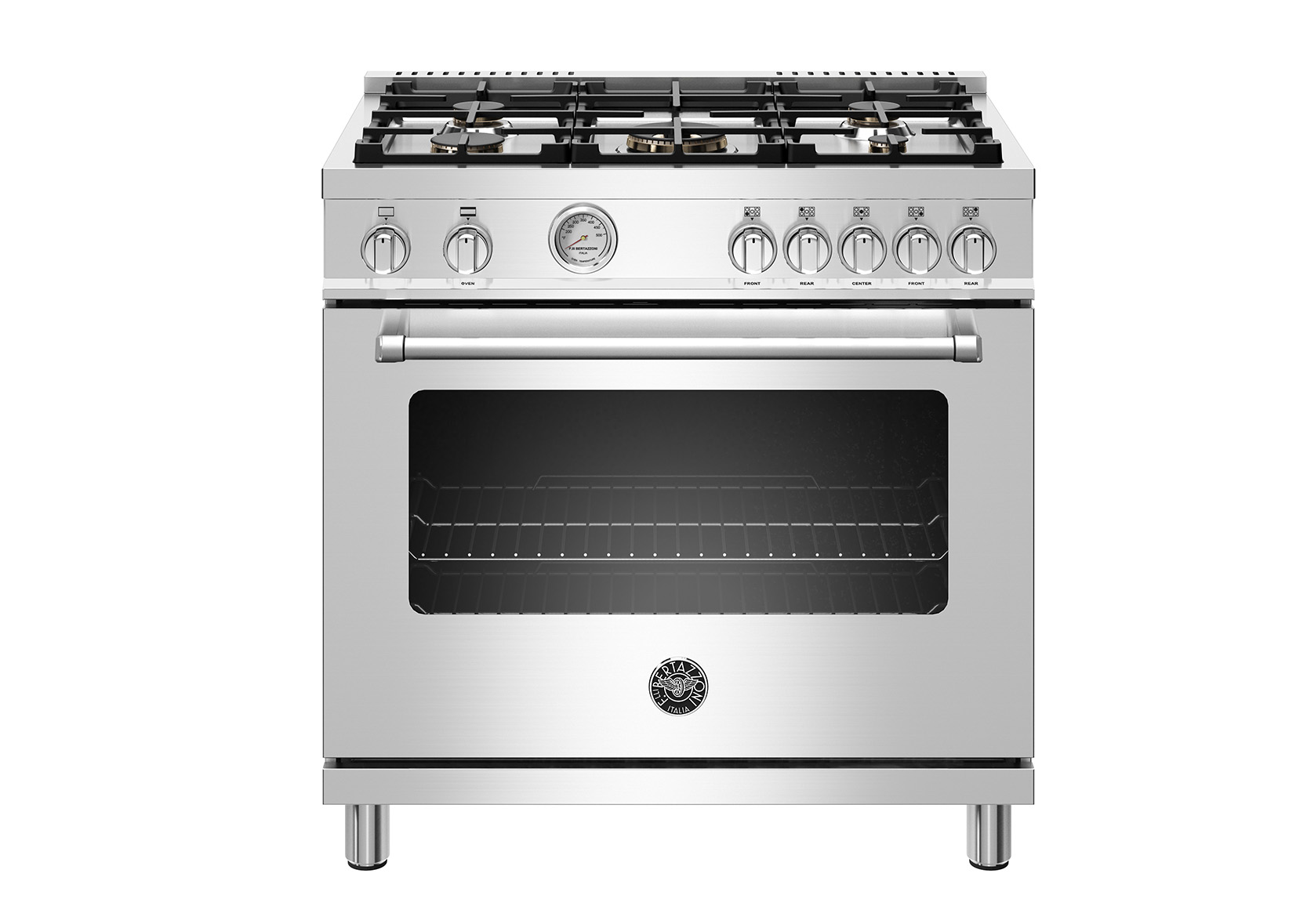 "Bertazzoni 36"" Master Series range - Gas oven - 5 aluminum burners"
