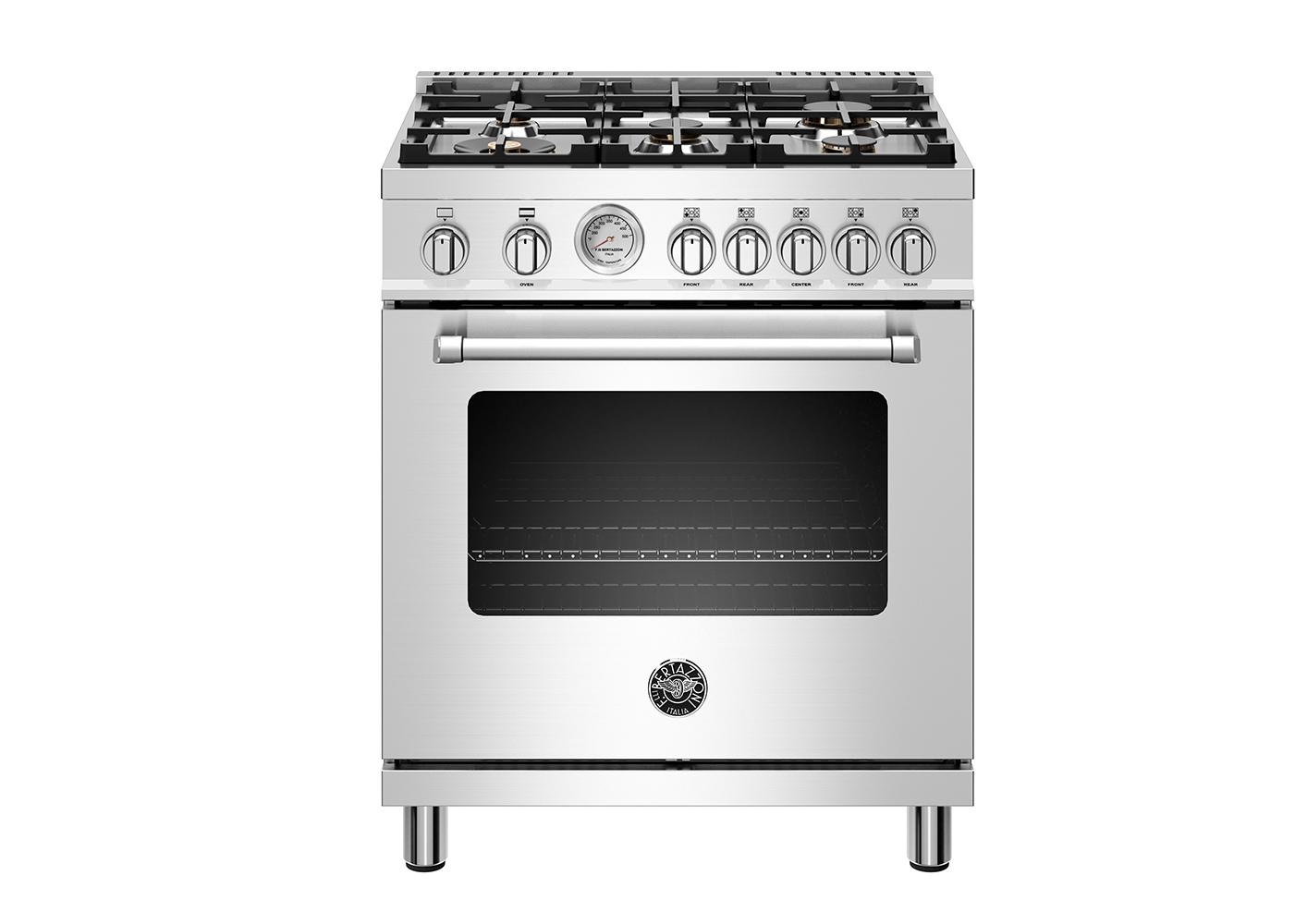 "Model: MAST305GASXELP | Bertazzoni 30"" Master Series range - Gas oven - 5 aluminum burners - LP version"