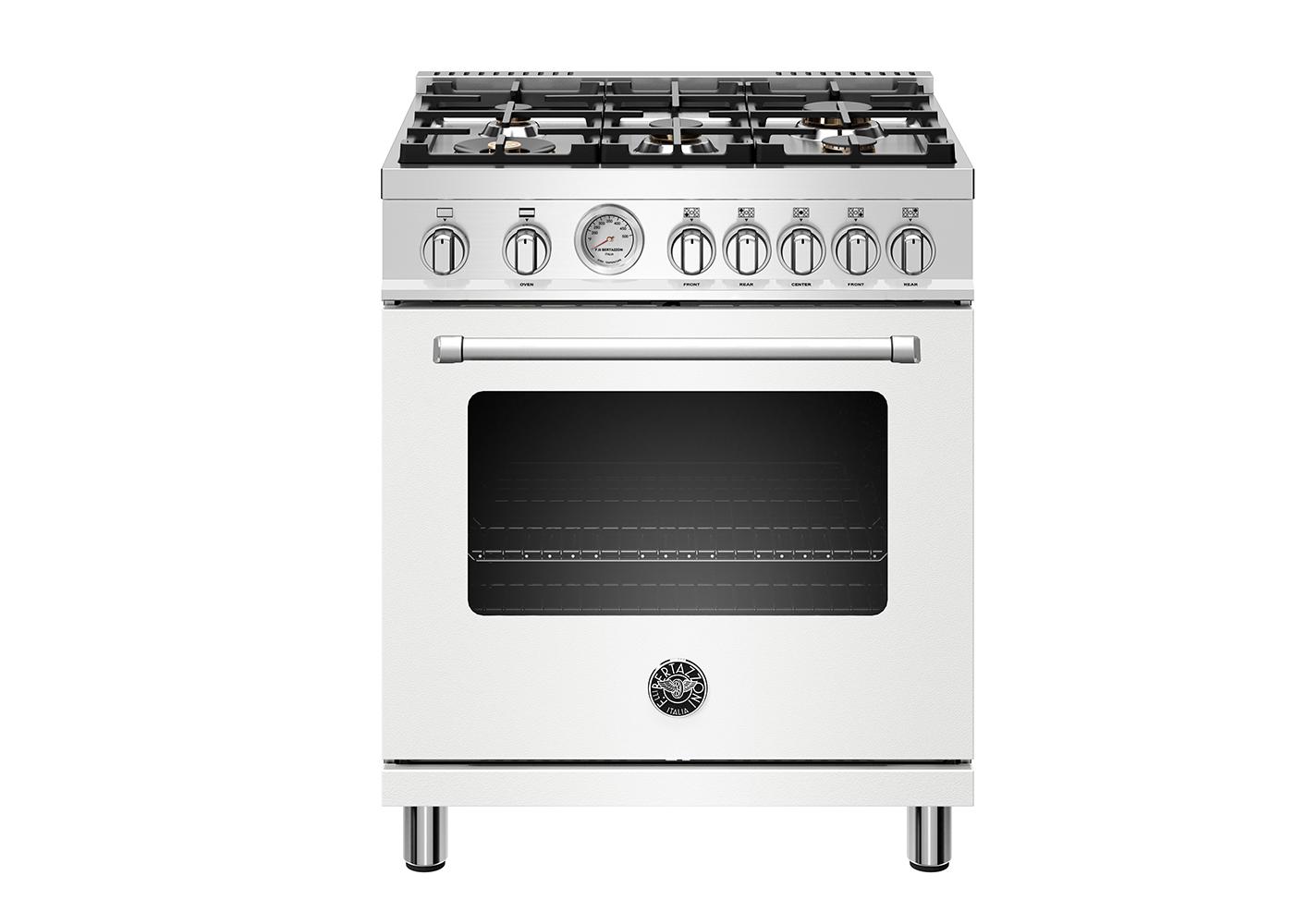 "Bertazzoni 30"" Master Series range - Gas oven - 5 aluminum burners"