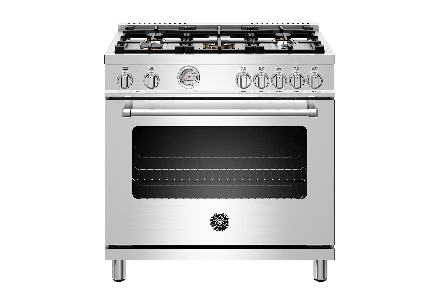 "Model: MAST365DFMXE | Bertazzoni 36"" Master Series range - Electric oven - 5 aluminum burners"