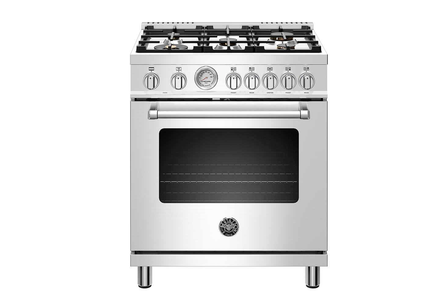 "Bertazzoni 30"" Master Series range - Electric oven - 5 aluminum burners"