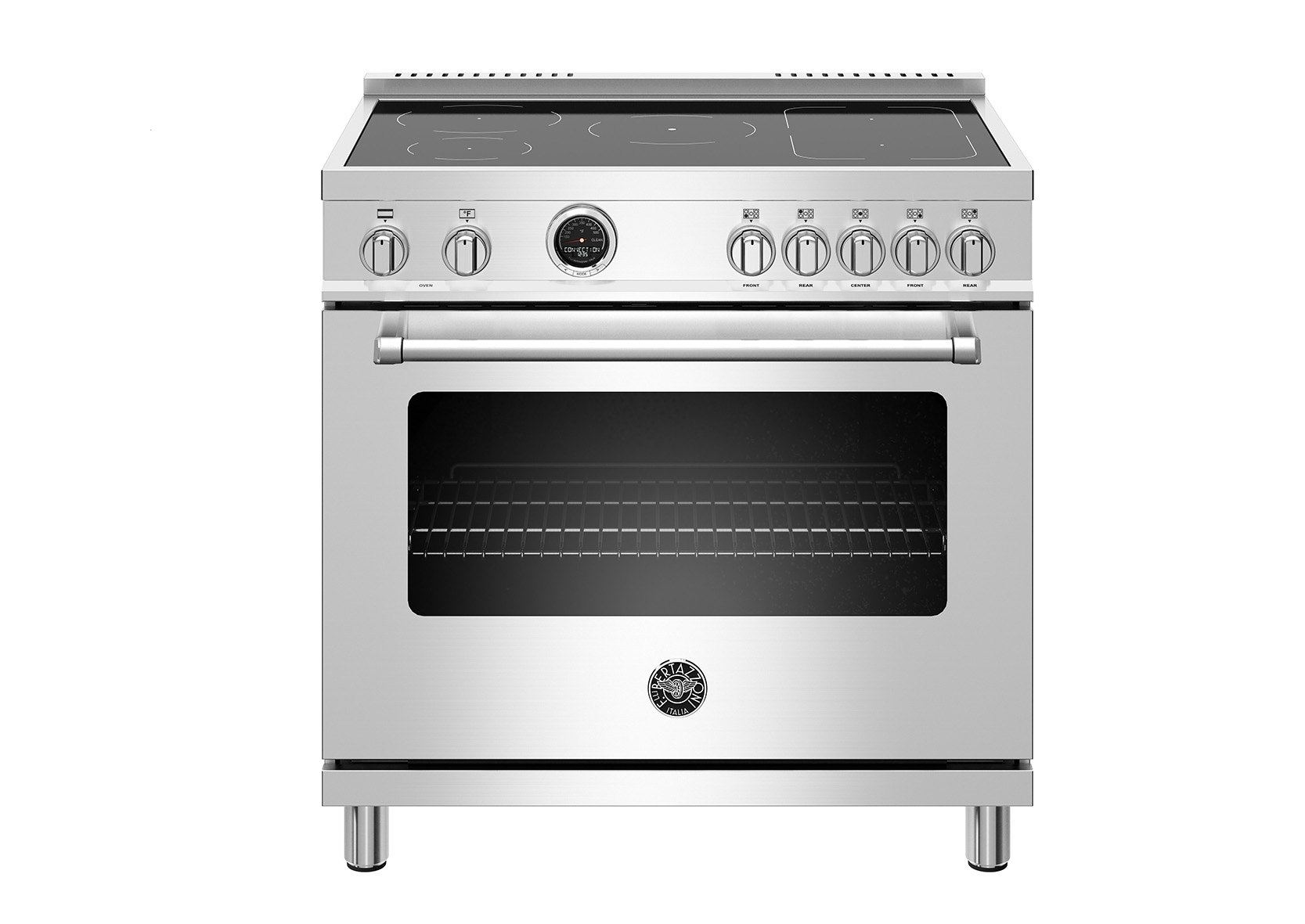 "Bertazzoni 36"" Master Series range - Electric self clean oven - 5 induction zones"