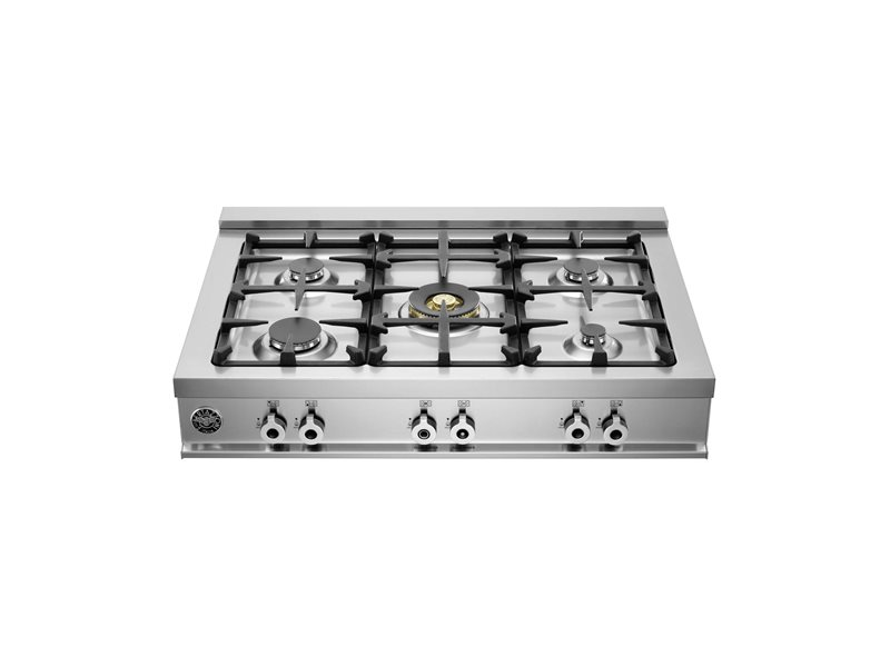 "Bertazzoni 36"" Rangetop 5 Brass Burners"
