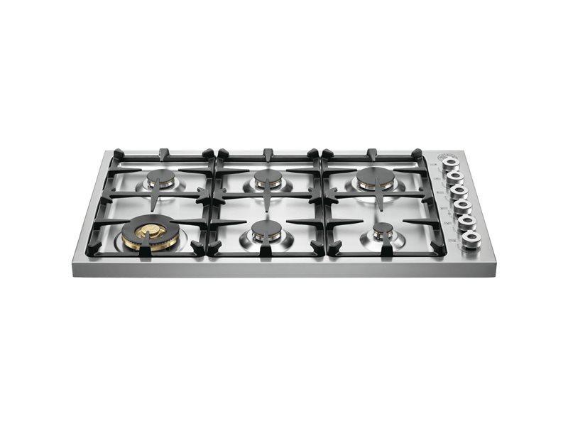 "Bertazzoni 36"" Drop-in Cooktop 6 Brass Burners"