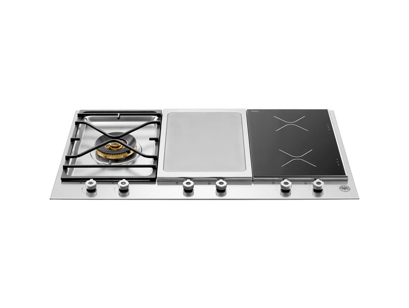 Professional Series 36 Segmented Cooktop 1-burner, 2 induction zones and griddle