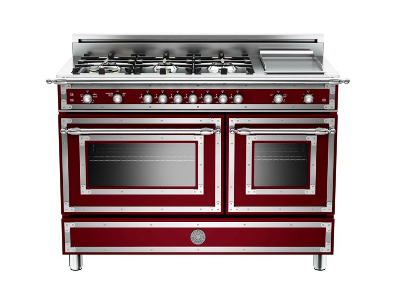 "Bertazzoni 48"" Heritage Series range - Gas Oven - 6 brass burners + griddle"