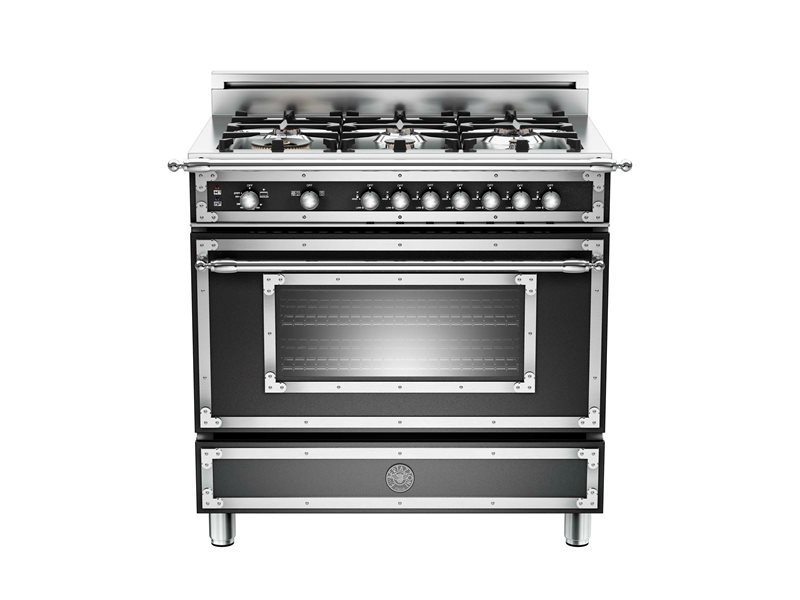 "Bertazzoni 36"" Heritage Series range - Gas Oven - 6 brass burners"