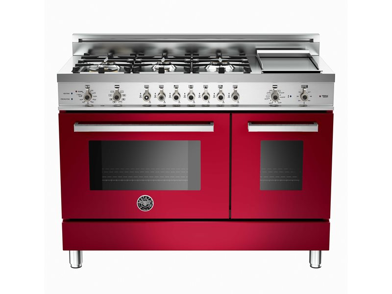 Professional Series 48 6-Burner + Griddle, Electric Self-Clean Double Oven