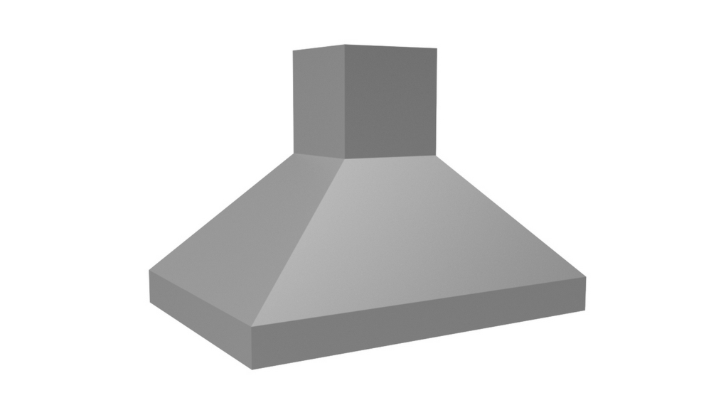 "Vent-A-Hood 36"" 550 CFM Euro-Style Island Range Hood Stainless Steel"