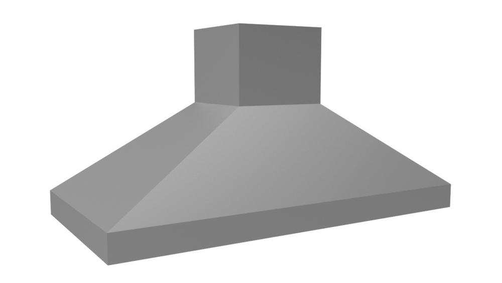 "Vent-A-Hood 48"" 1100 CFM Euro-Style Island Range Hood Stainless Steel"