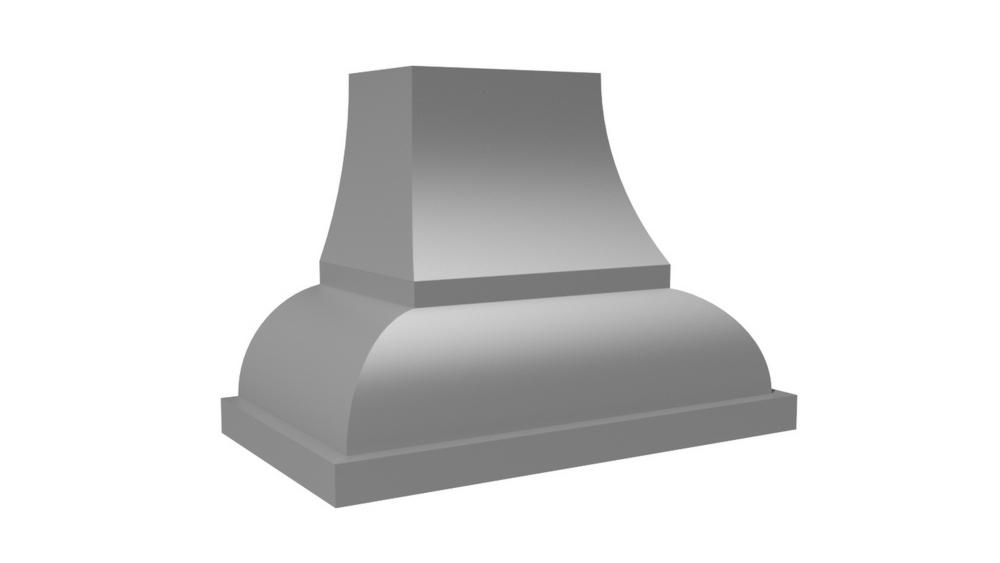 "Vent-A-Hood 54"" 1200 CFM Designer Series Range Hood Base Painted"