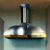 This wall mounted range hood creates a