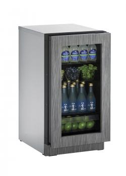 18 inch Glass Door Refrigerator