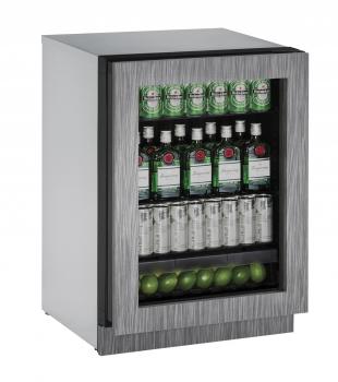 U-Line 24 inch Glass Door Refrigerator