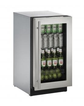 18 inch Glass Door Refrigerator Left-Hand Hinge