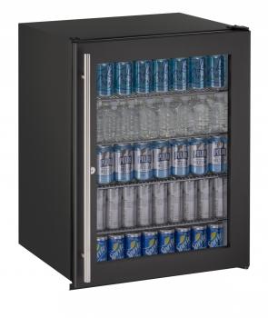 24 inch ADA Glass Door Refrigerator w/lock