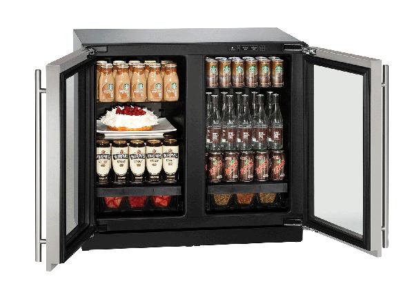 """3036RRGL 36"""" Glass Door Refrigerator"""