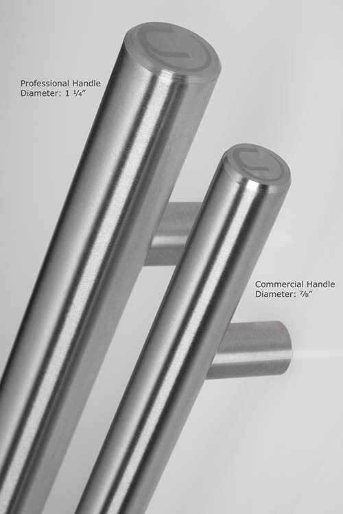 Professional Door Handle Stainless 1-1/4