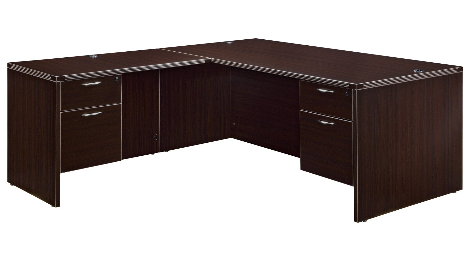 Flexsteel Fairplex  Right/Left L Desk with 3/4 Pedestals