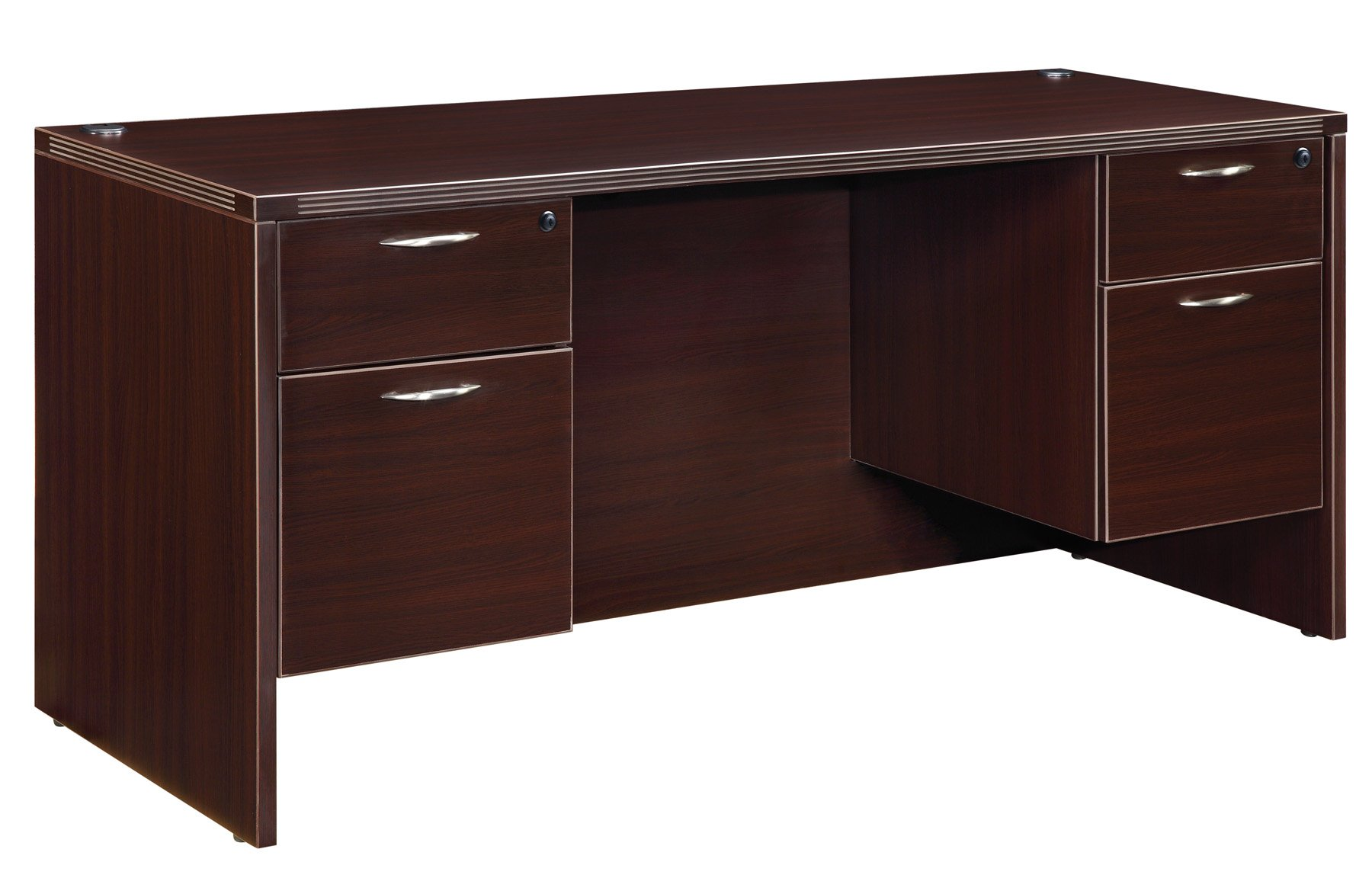 Flexsteel Fairplex  Kneehole Credenza with 3/4 Pedestals
