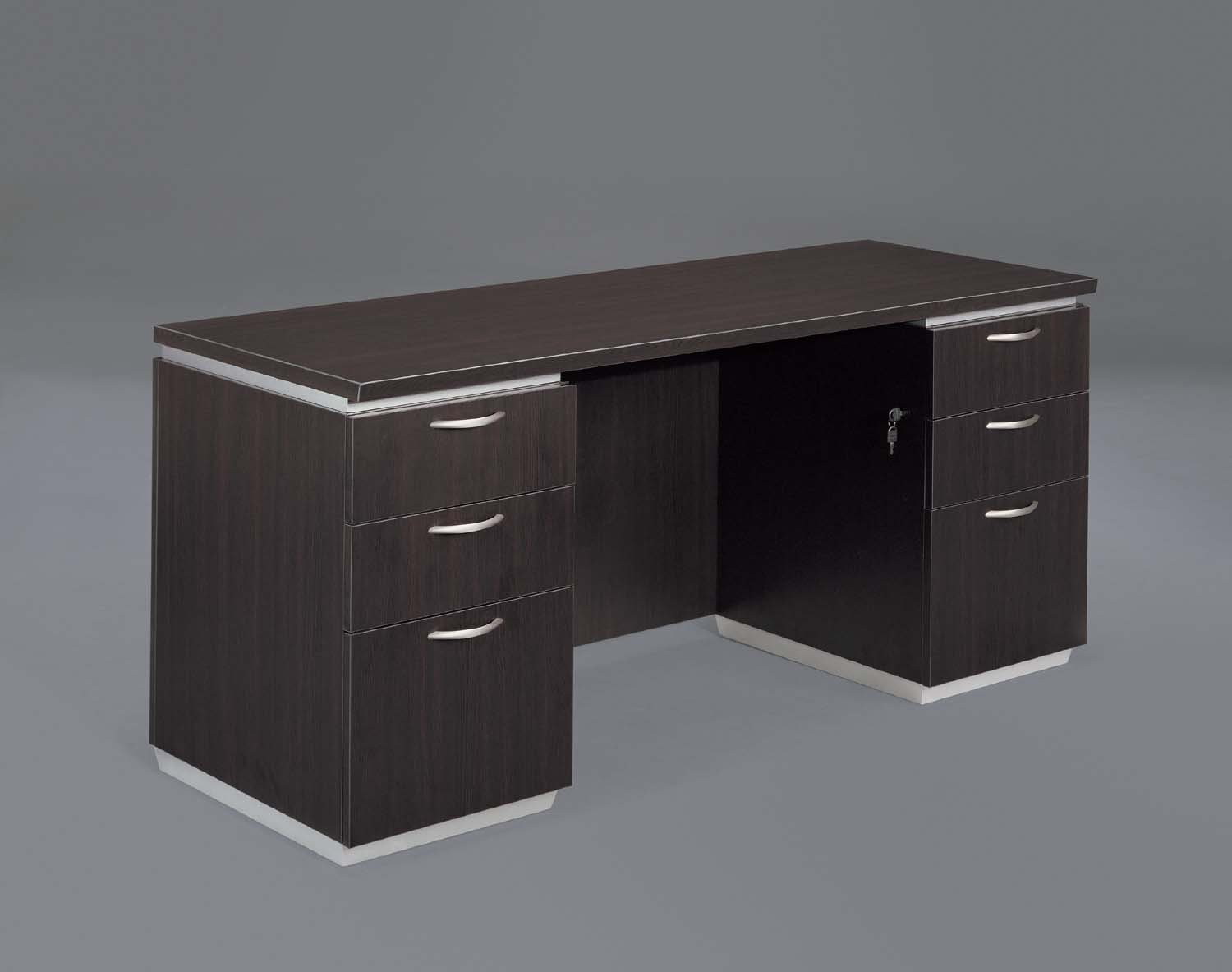 Pimlico  Kneehole Credenza with Flat Ends