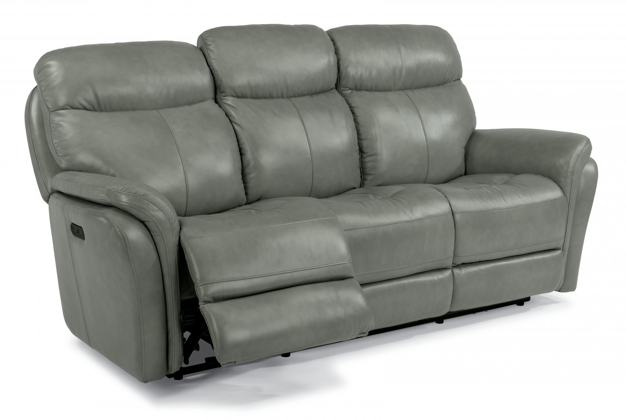 Flexsteel Zoey  Leather Power Reclining Sofa with Power Headrests